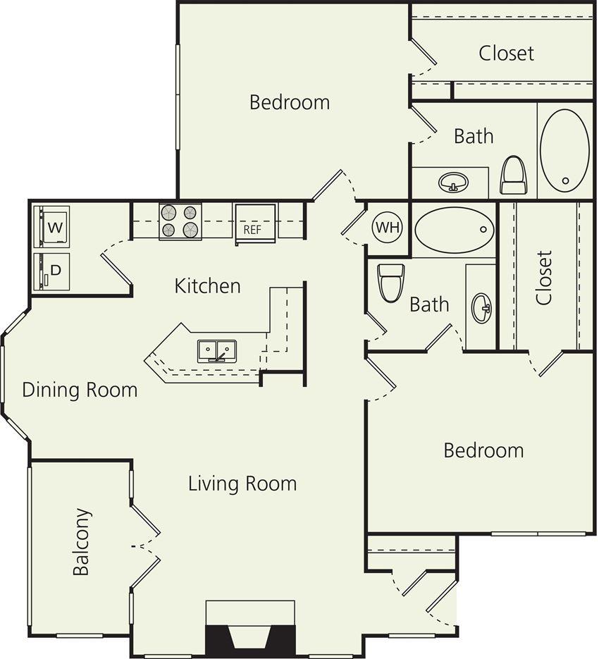 The Carlton Apartments D Floor Plan