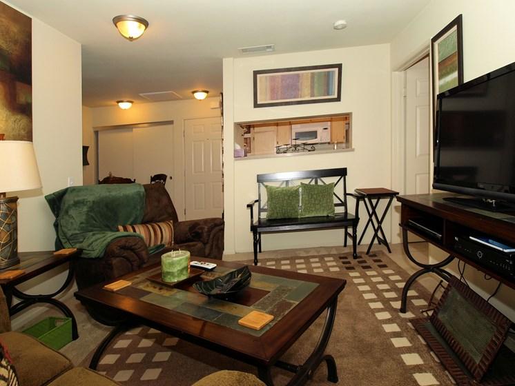 Cypress Villas Apartments Model Living Room