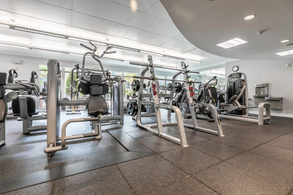 The Mercer Fitness Center with workout machines