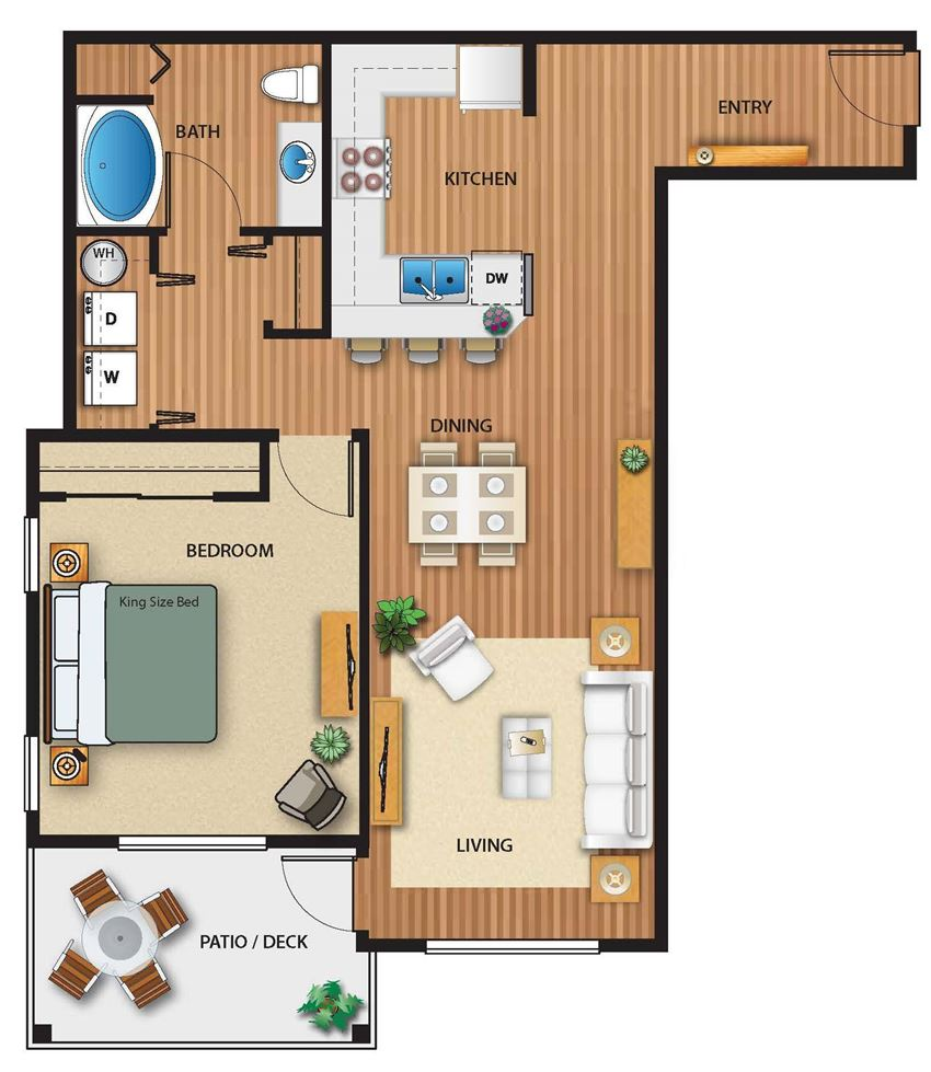 Park on 20th Apartments Forest Floor Plan