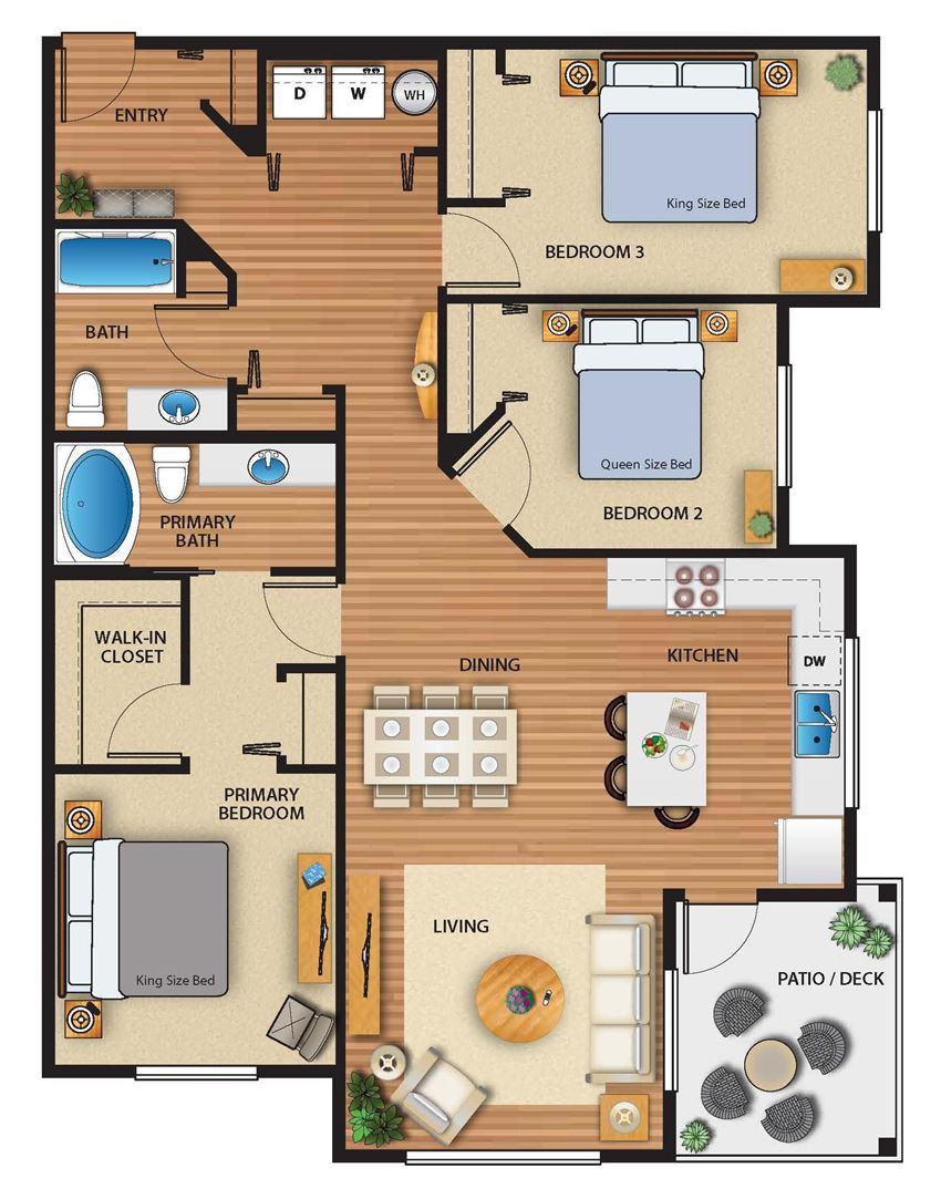 Park on 20th Apartments Garden Floor Plan
