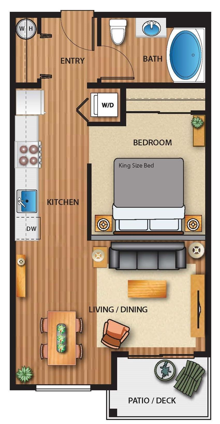 Park on 20th Apartments Lake Floor Plan