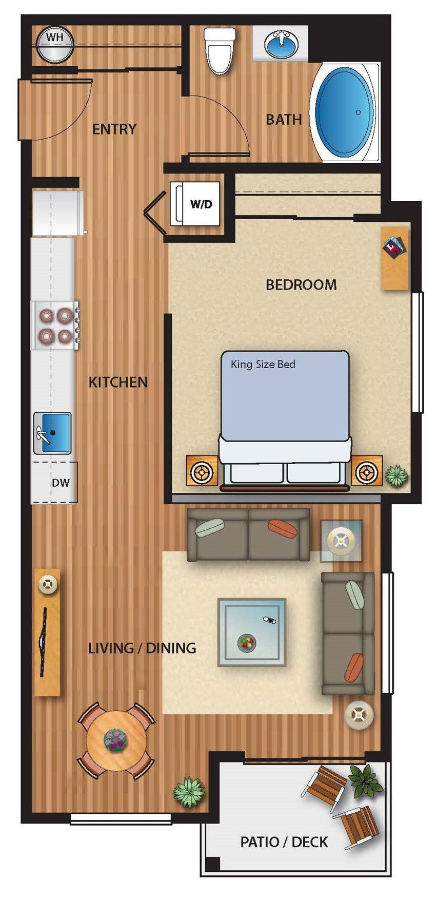 Park on 20th Apartments Meadow Floor Plan