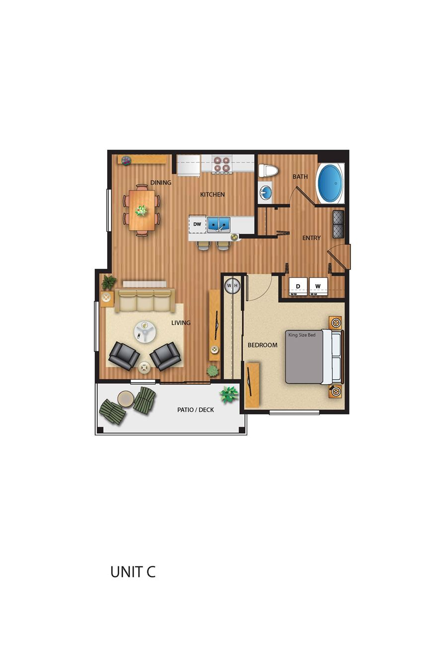Park on 20th Apartments Woodland Floor Plan
