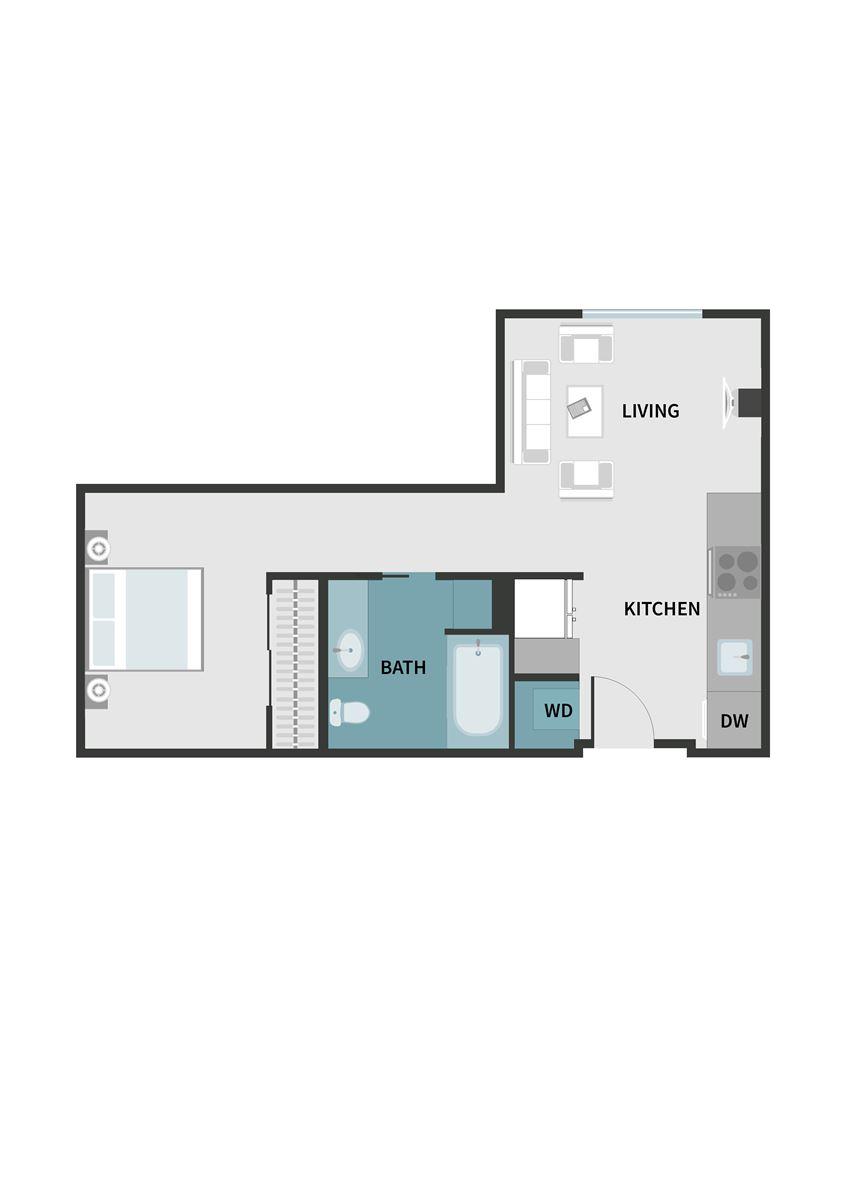 VersoApartments_Beaverton_OR_FloorPlan_Studio_B