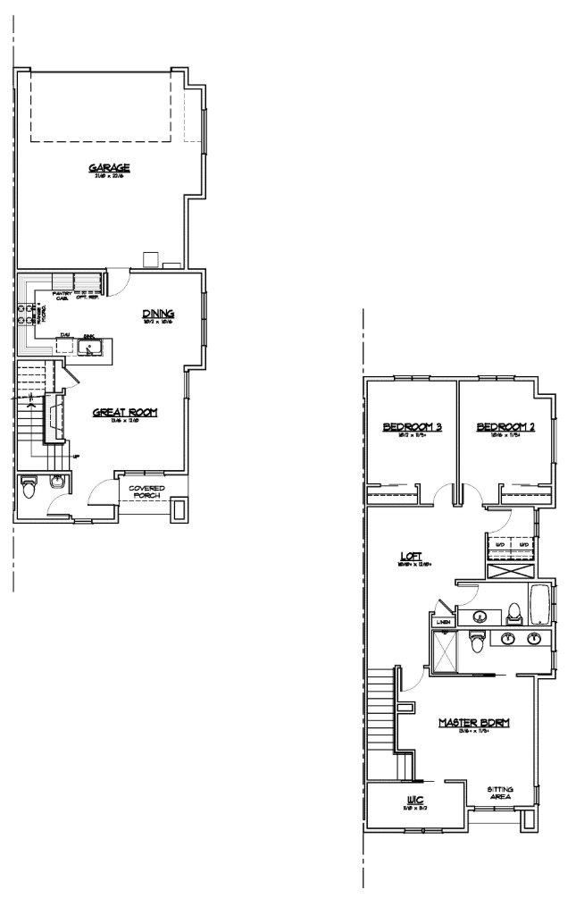 Outpost 44 Jacobson Three Bedroom Two Bathroom Floor Plan