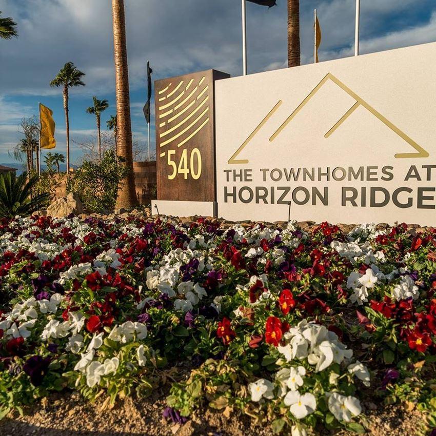 The Townhomes at Horizon Ridge Apartments Exterior Sign Henderson, Nevada