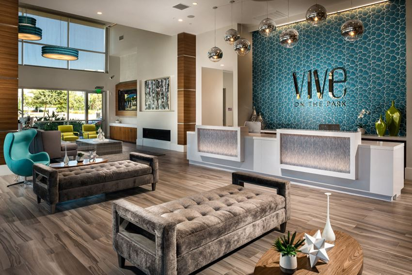 Vive on the Park Lobby and Front Desk San Diego, California