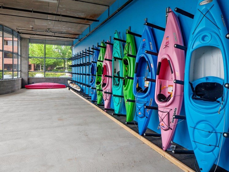 Boathouse Apartments Kayak Racks