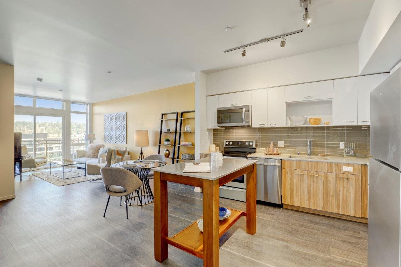 Sparc Apartments Model Kitchen and Dining Area