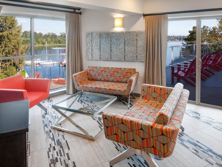 Boathouse Apartments Clubhouse Seating Area