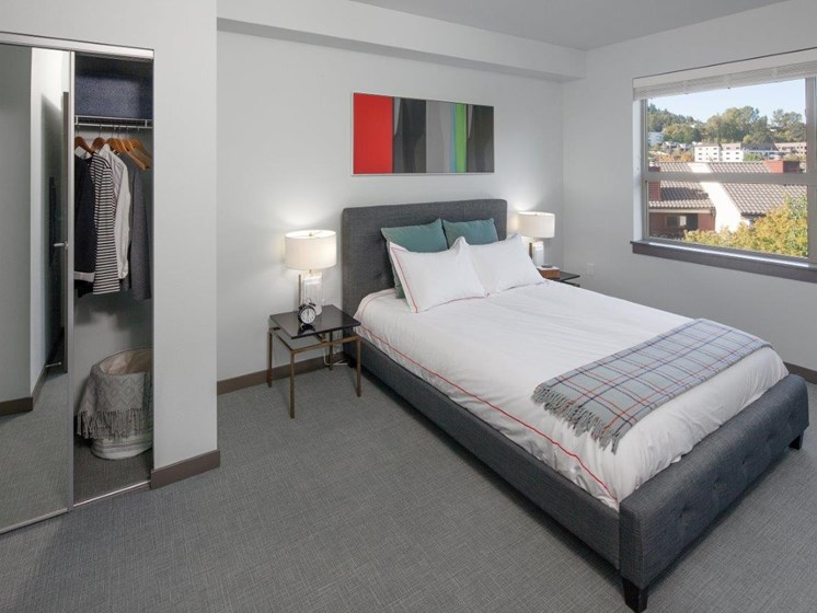 Boathouse Apartments Model Bedroom