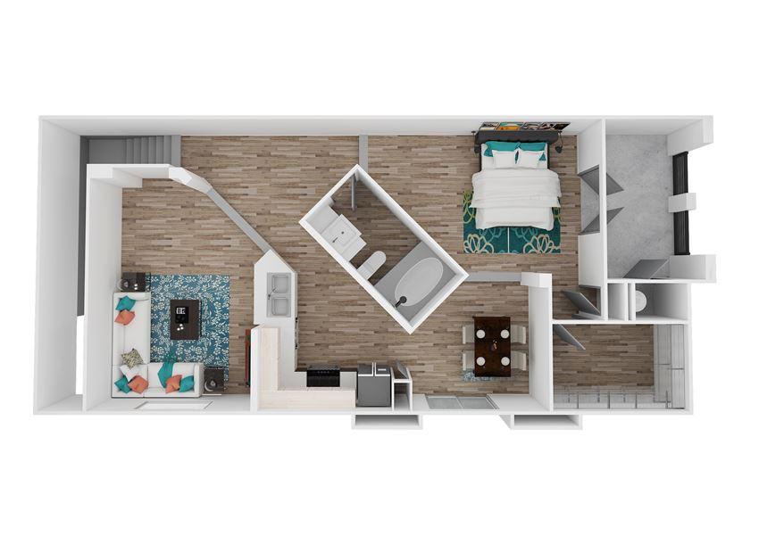 Zone Luxe Apartments Balance Floor Plan