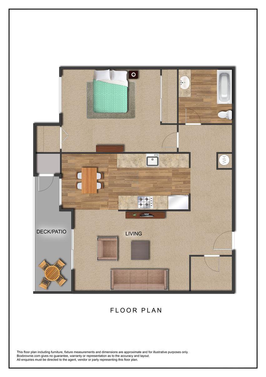 The Galleria Apartments 1 Bedroom Floor Plan