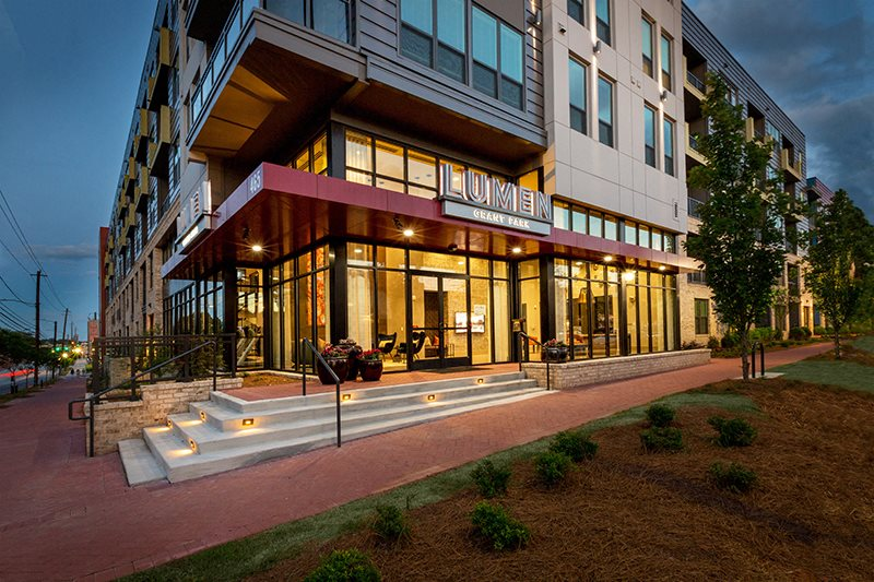 Apartments for Rent in Grant Park, Atlanta GA - Lumen Grant Park Apartments Outdoor Front Building View