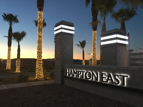 Apartments in Mesa, AZ - Hampton East Apartments Exterior View of Unit Entrance with Landscaped, Paved Walkways