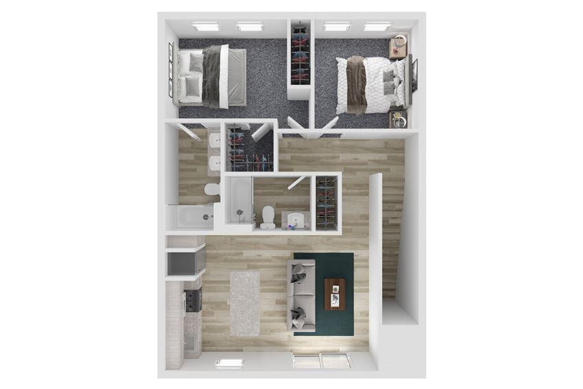 Townhome Three Bed Two Bath Floor Plan at The Clara, Idaho, 83616