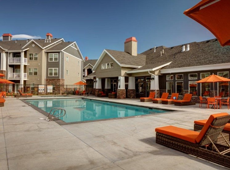 Picturesque Pool And Cabana Setting at Alloy at Geneva, Vineyard, UT, 84058