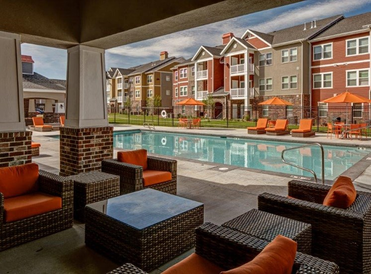 Pool With Lounge Area  at Alloy at Geneva, Vineyard, Utah