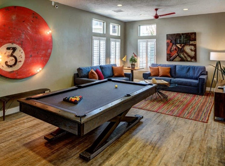 Billiards Table In Game Room at Alloy at Geneva, Vineyard, Utah