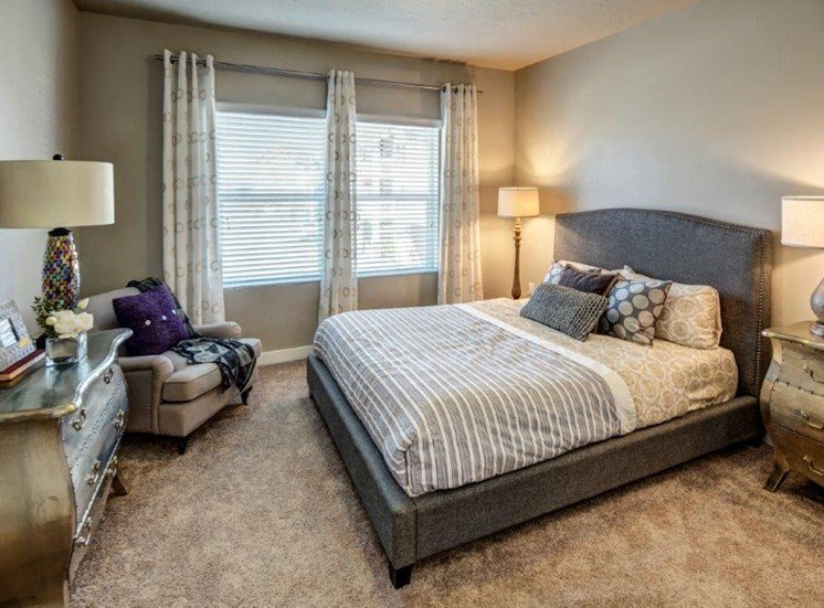 Beautiful Bright Bedroom With Wide Windows  at Alloy at Geneva, Vineyard, UT