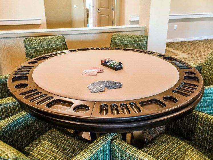 Poker Table at Westmont of Milpitas, Milpitas, California