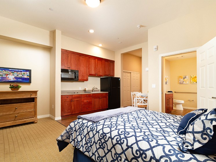 Studio Apartment With Modern Furniture at The Terraces, Chico, 95928