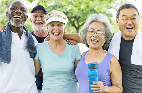 People smiling after exercising