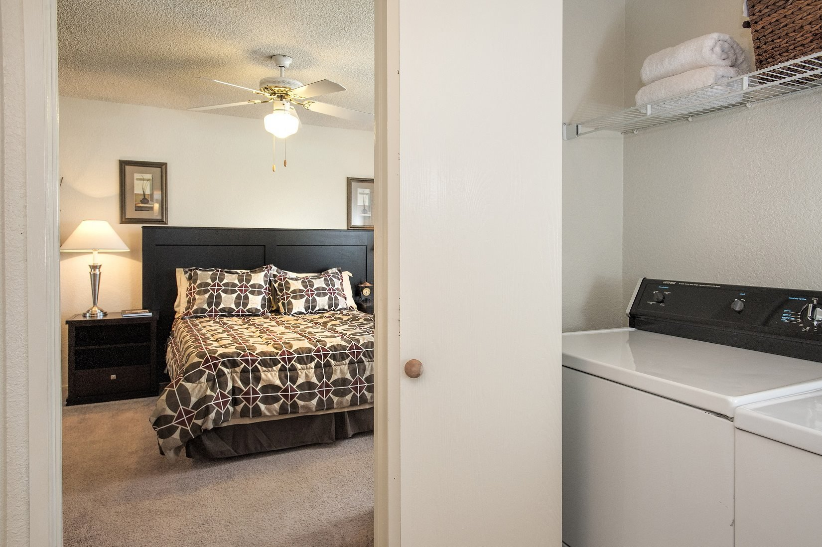 Canterbury Downs Model Washer& Dryer Outside of Master Bedroom