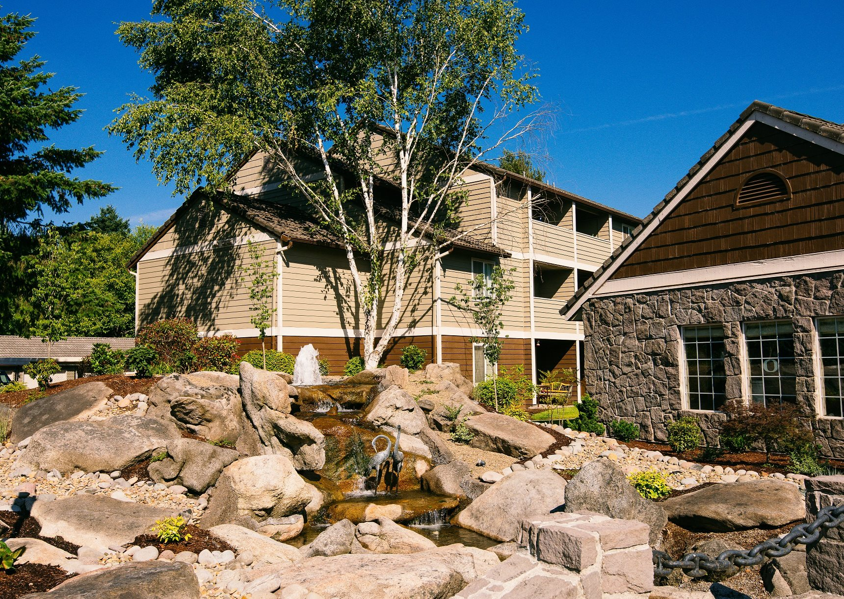 Creekside Village Clubhouse Fountain