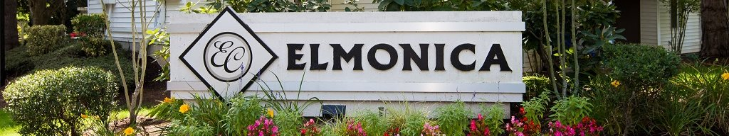 Elmonica Court Apartments Property Entry Monument Sign