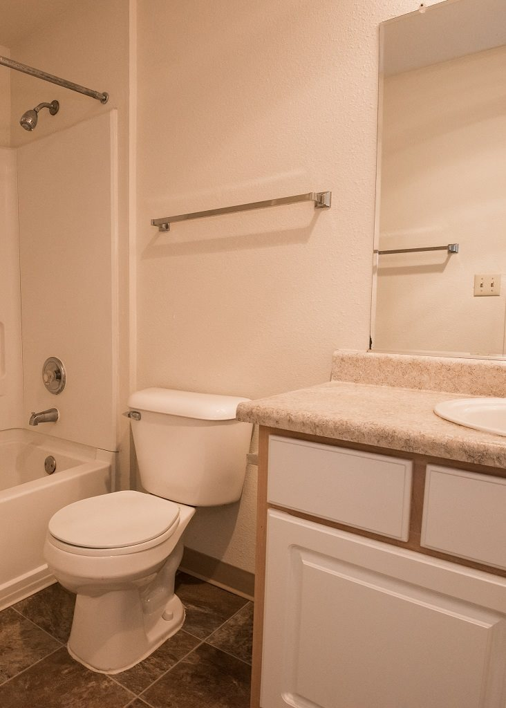 Elmonica Court Vacant Apartment Upgraded Bathroom