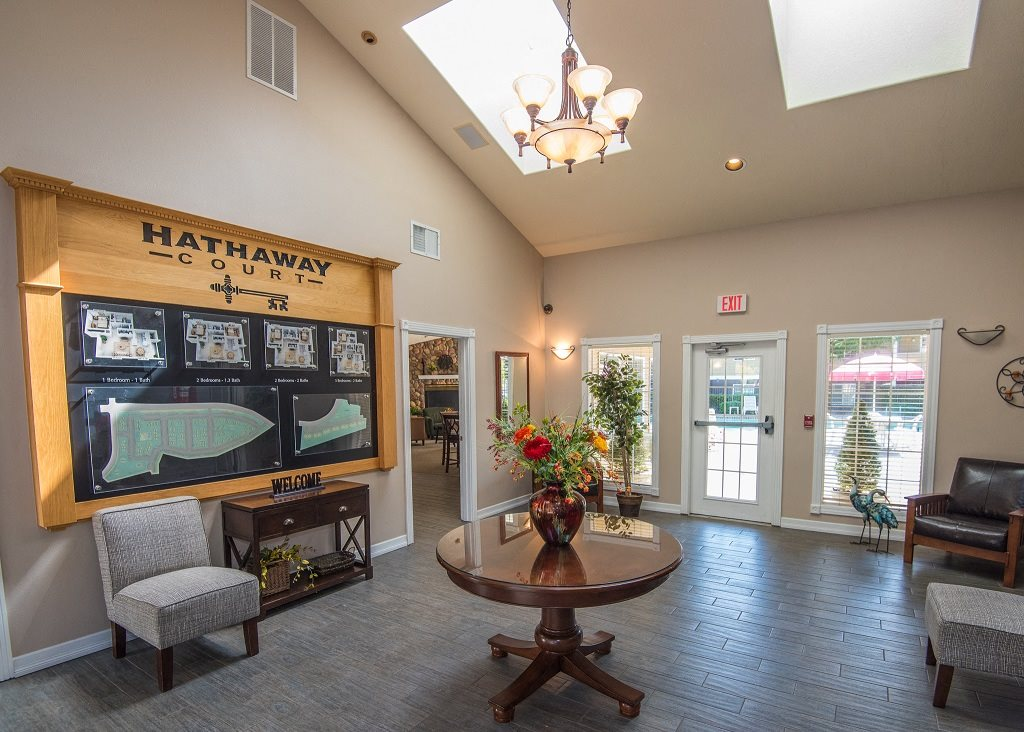 Hathaway Court Clubhouse Interior Foyer Waiting Area