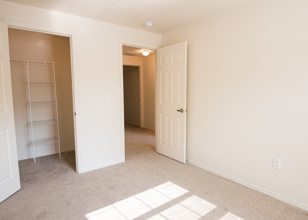 Hathaway Court Vacant Townhome Second Bedroom & Walk In Closet