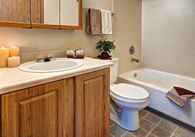 Maple Pointe Non Upgraded Bathroom