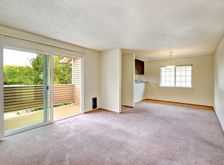 Maple Pointe Vacant Apartment Living Room & Patio Sliding Door