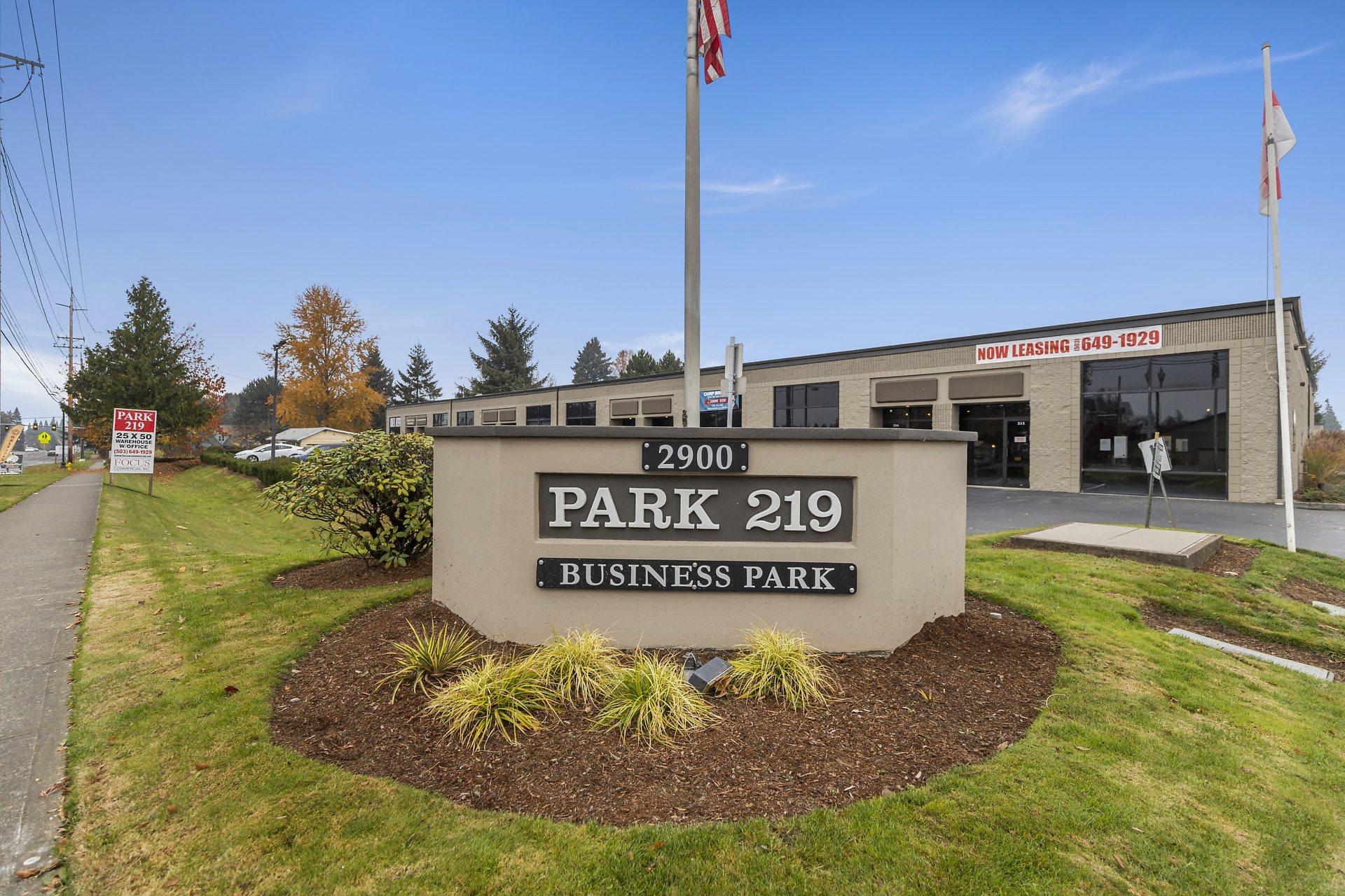 Park 219 Business Park Monument & Landscaping