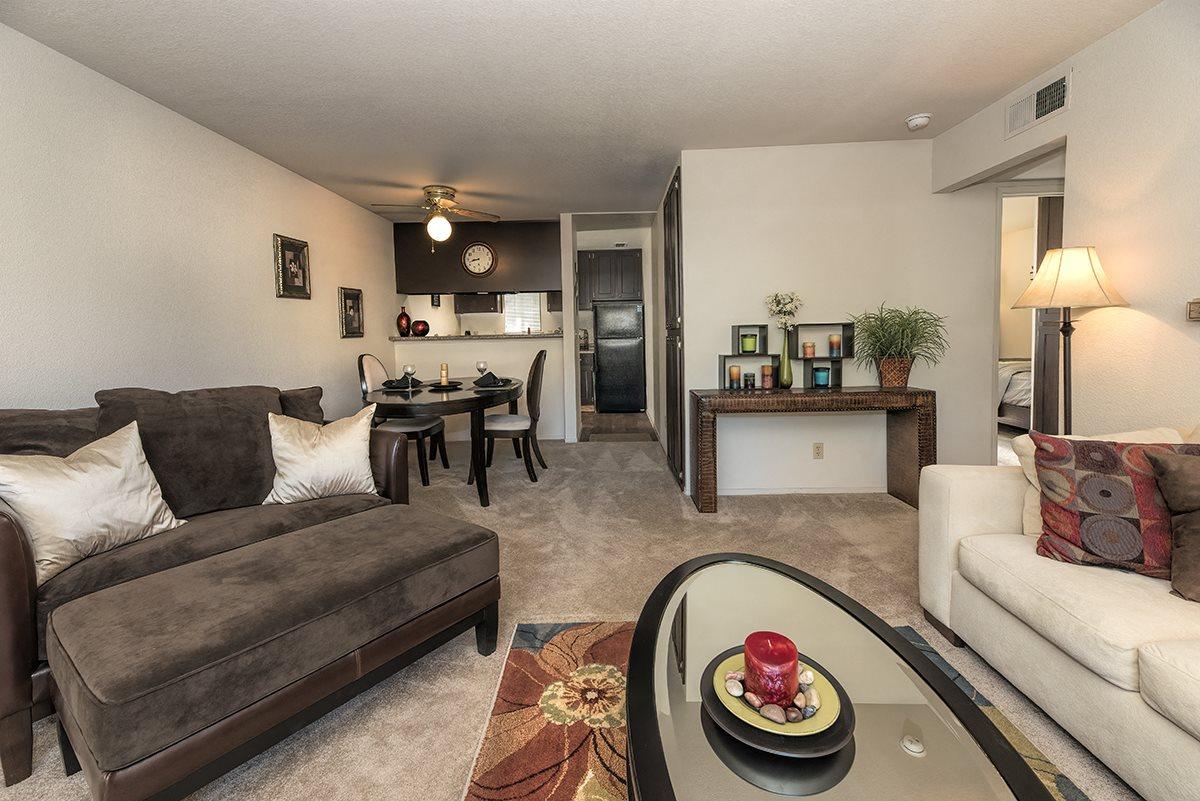 Pepperwood Roseville CA Model Living Room 2nd Angle
