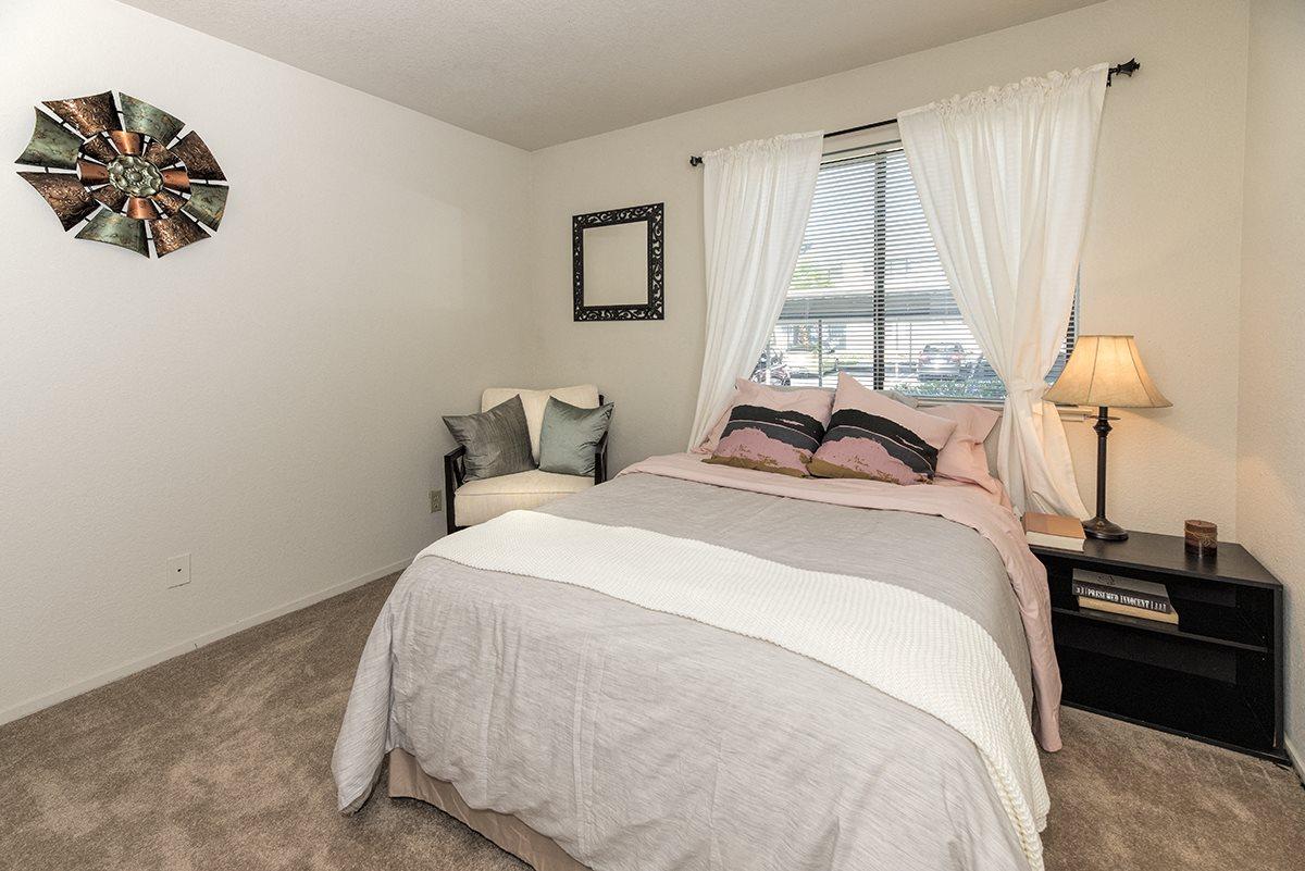 Pepperwood Furnished Model Master Bedroom and Bed