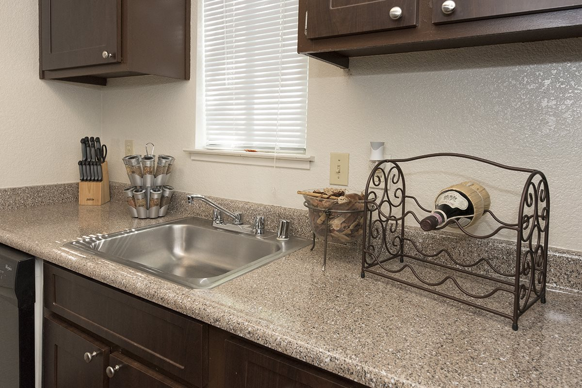 Pepperwood Model Upgraded Kitchen Sink & Counters