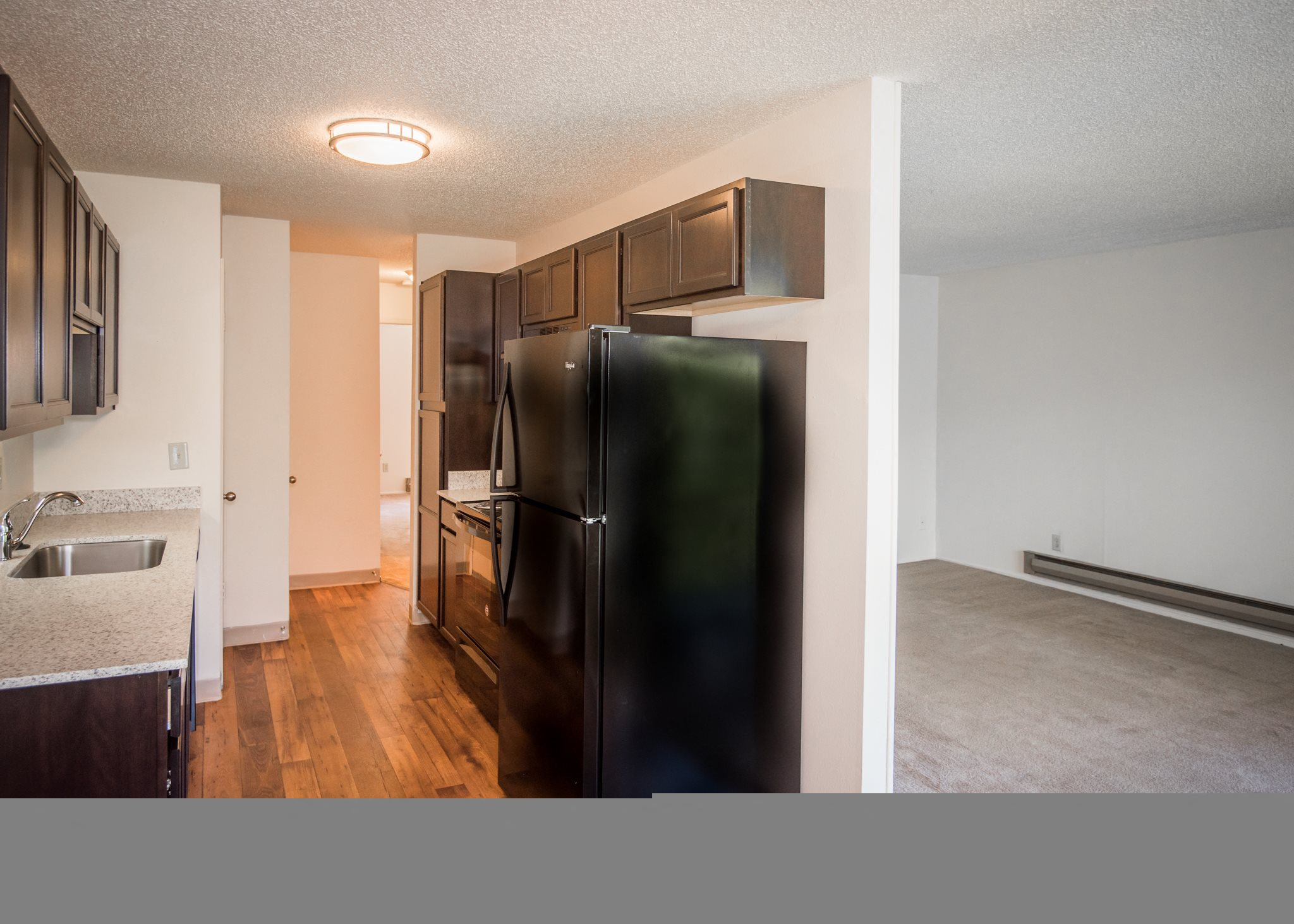 Shadow Hills Vacant Apartment Original Upgraded Kitchen Side Profile