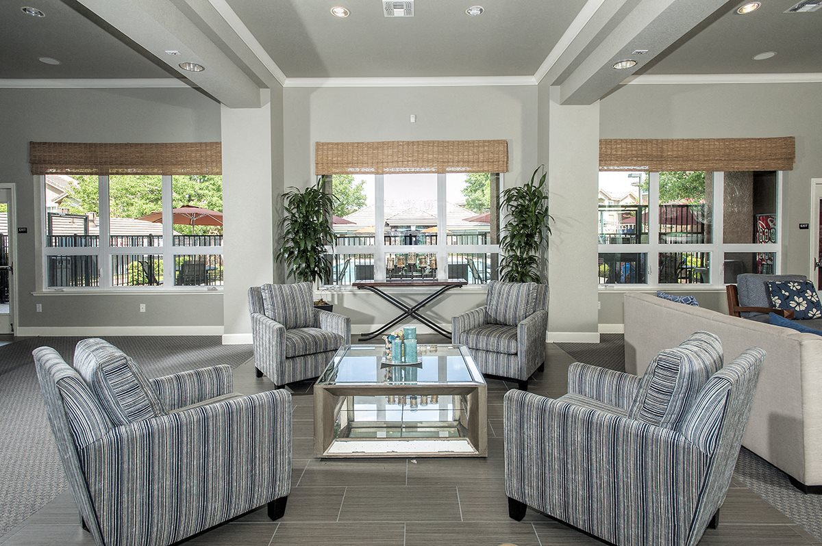 Stoneridge Clubhouse Interior Seating Area & Windows