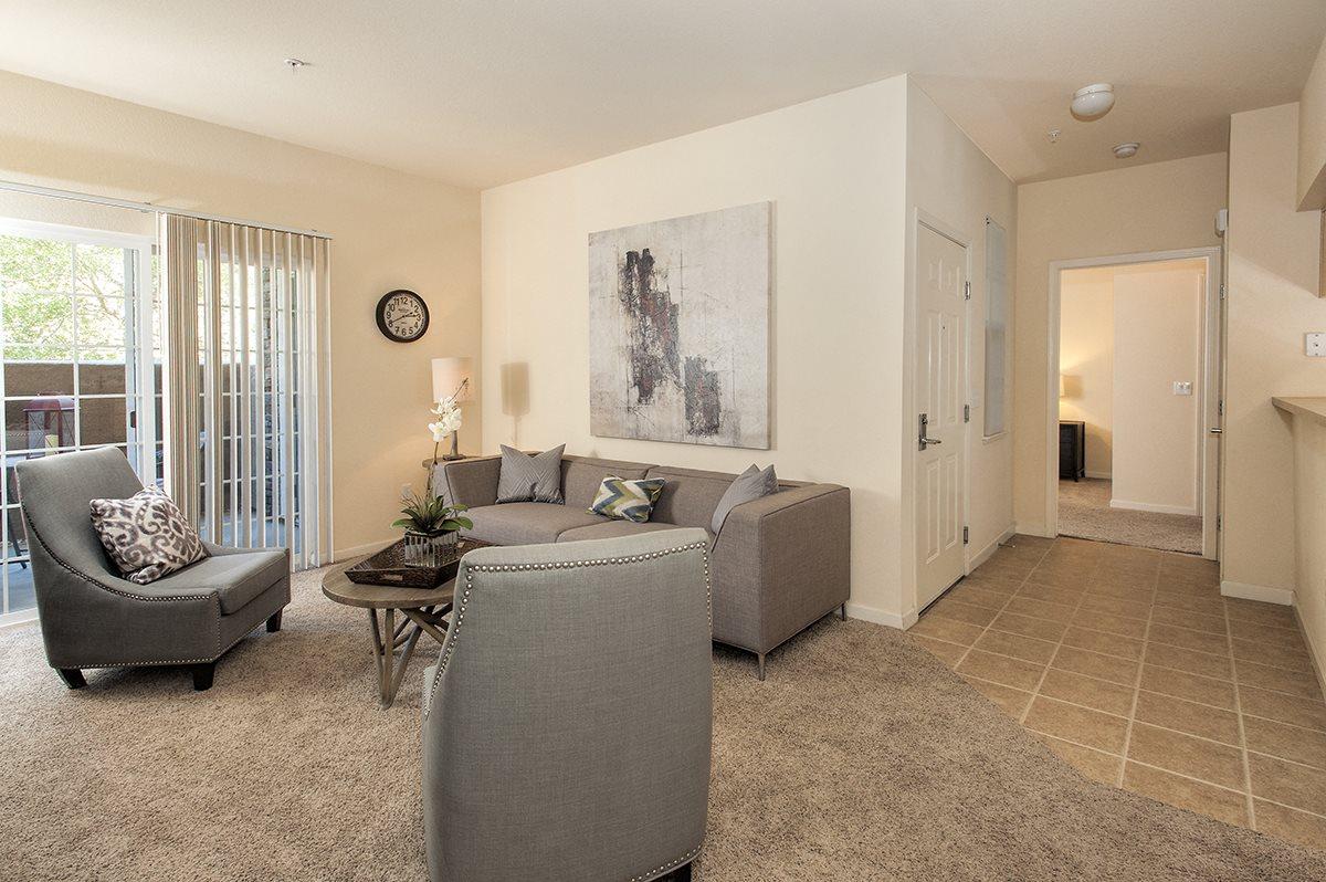 Stoneridge Second Model Living Room & Hallway