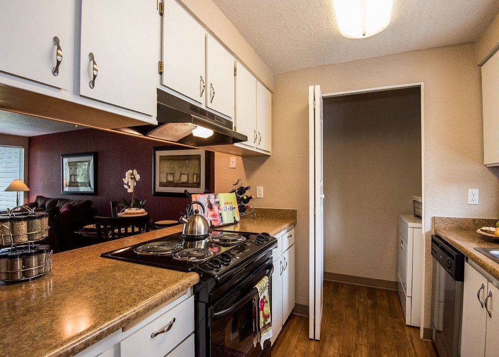 Sunstone Parc Model Apartment Kitchen & Laundry Area