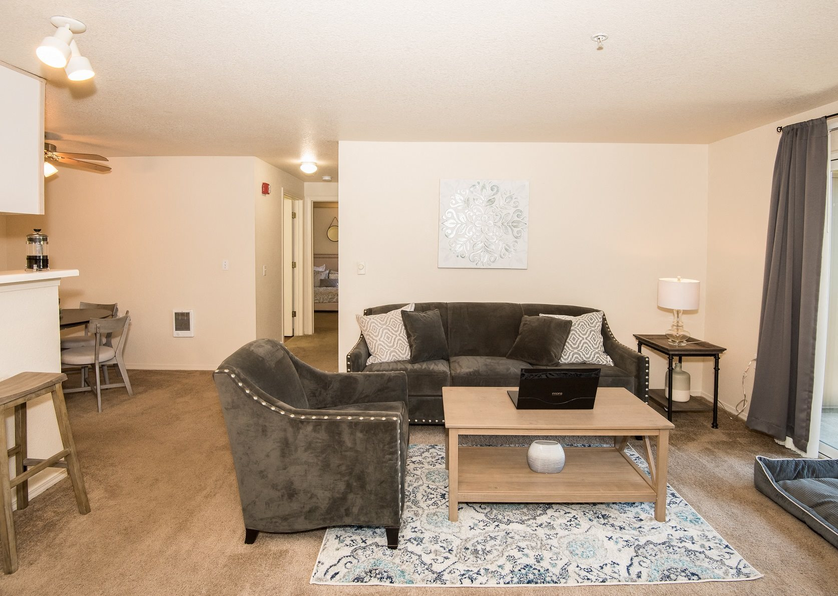 Valley River Court Model Living Room 2nd Angle
