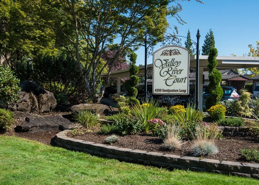 Valley River Court Property Entry Monument Sign