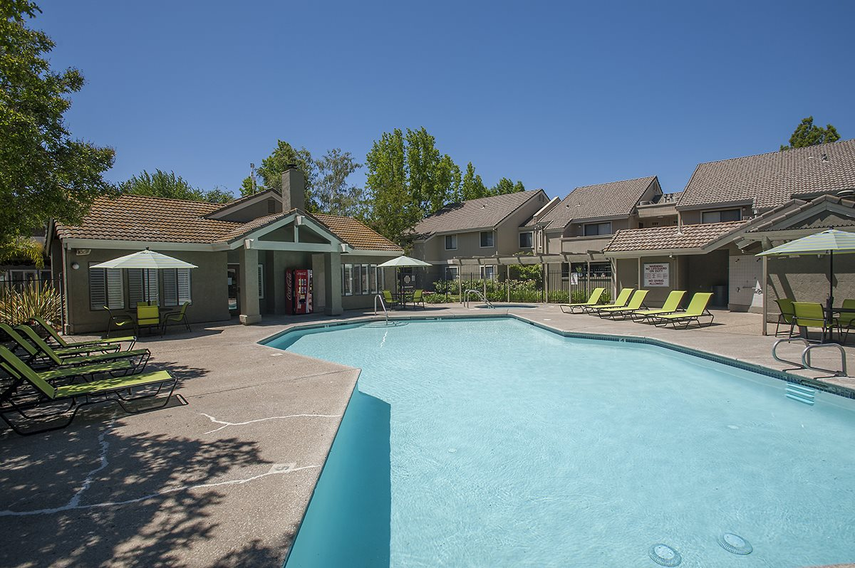 Zinfandel Village Apartments Pool & Back of Clubhouse