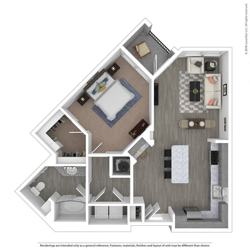 A1G One Bed One Bath Floor Plan at Integra Sunrise Parc, Kissimmee, FL, 34746