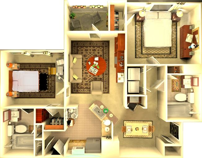 The Barcelona 2 bedroom floorplan