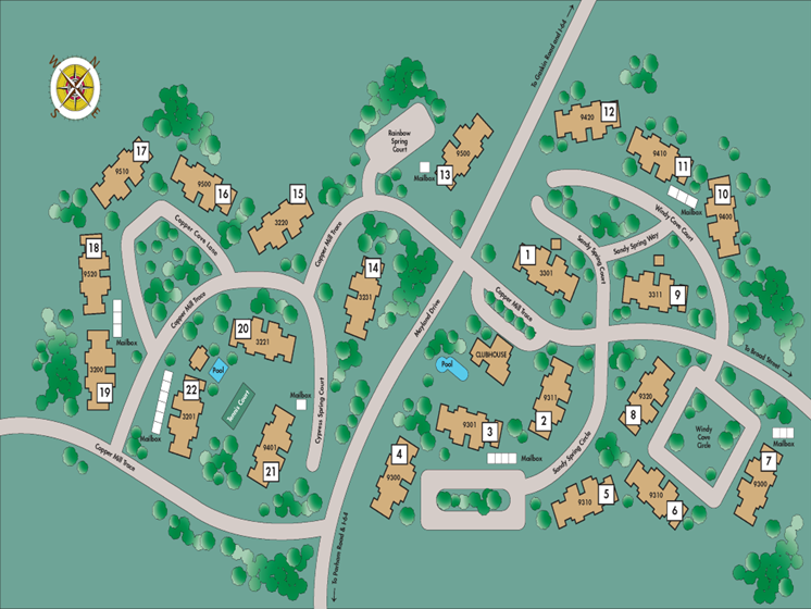 Copper Spring Site Map